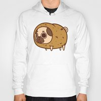potato Hoodies featuring Puglie Potato by Puglie Pug