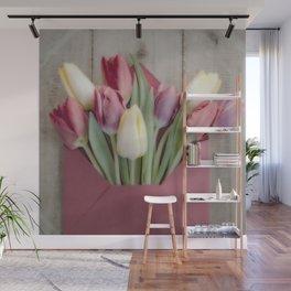Flowered Envelope Wall Mural