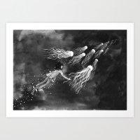 Deepsea Jellyfish Art Print