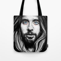 jared leto Tote Bags featuring Jared Leto by KlarEm