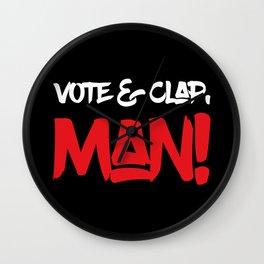 Vote&Clap, Man! Wall Clock