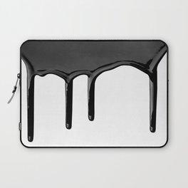Black paint drip Laptop Sleeve