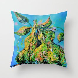 Abstract Pears Throw Pillow