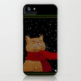 Knitted Wintercat iPhone Case