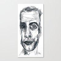 ezra koenig Canvas Prints featuring EZRA by EDEN