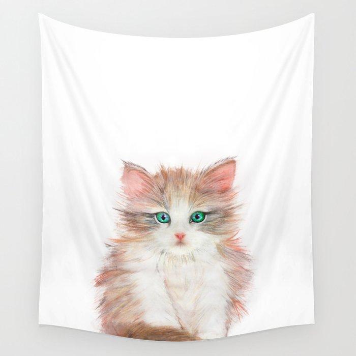 Little Kitten Wall Tapestry