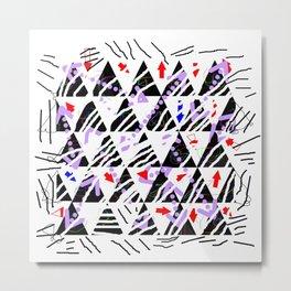 stripes-zebra-holiday 01 Metal Print
