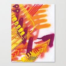 Yellow on Orange Canvas Print