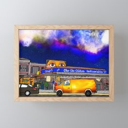 Cha Cha Chicken Framed Mini Art Print