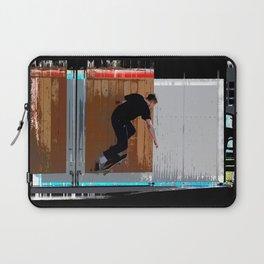 Climbing the Wall - Skateboarder Laptop Sleeve