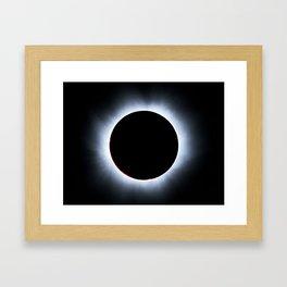 Solar Corona during Solar eclipse Framed Art Print