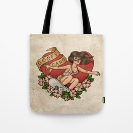 Goofy Gang Traditional Style Skateboard Tattoo Tote Bag