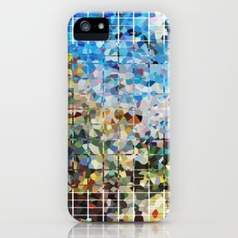 Modern Geometrical Colorful Squares - Art By Sharon Cummings iPhone Case