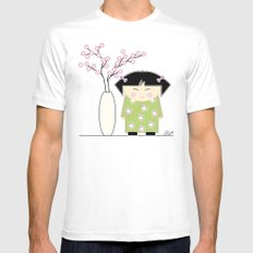 Little Asian Girl MEDIUM Mens Fitted Tee White