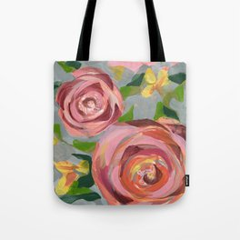 Platinum Rose Tote Bag
