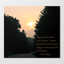 may your trails be crooked... Canvas Print