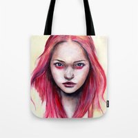 gemma Tote Bags featuring Pink Gemma-2012   by Bella Harris