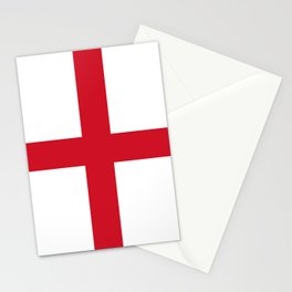 Flag of England (St. George's Cross) - Authentic version to scale and color Stationery Cards