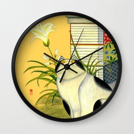 Wacky cat_Solnekim Wall Clock