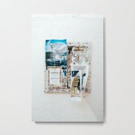 Greek ads. Metal Print