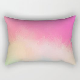 Modern Contemporary Pink Pastel Abstract Rectangular Pillow
