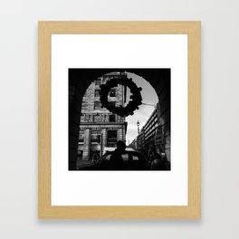 Green Park in Monochrome Framed Art Print