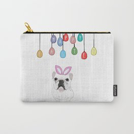Happy Easter - Frenchie Bunny Carry-All Pouch