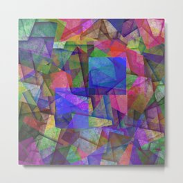 Pieces Of colour - Abstract, colour fragments Metal Print