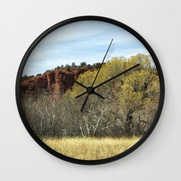 Spring at Red Rock State Park Wall Clock