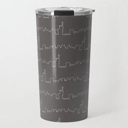 New York Skyline // Charcoal Grey Travel Mug