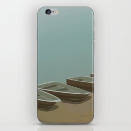 Boats on the shore iPhone Skin