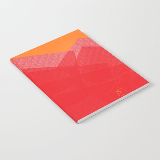 Colorful Red Abstract Mountain Notebook
