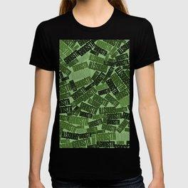 GANGSTA jungle camo / Green camouflage pattern with GANGSTA slogan T-shirt