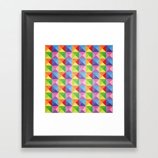 Squiangle Again & Again... Framed Art Print