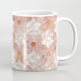 Rose Gold Art Deco Butterfly Pattern Coffee Mug