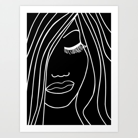 Onyx Portrait Art Print