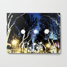Christmas City Lights Metal Print