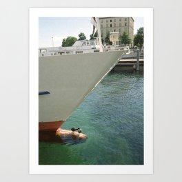 harbour love Art Print
