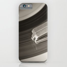 Music From a Vintage 45 RPM Record Playing on a Turntable 3 iPhone Case