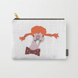 Spunky Turkey Orange Hair Carry-All Pouch