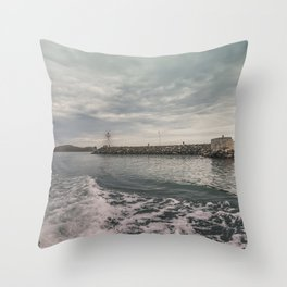 Boat trip in Howth, Ireland Throw Pillow