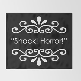 Shock! Horror! Throw Blanket