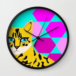 Bengal & Hexagons Wall Clock