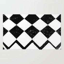 Night Stars and Checkerboards Rug