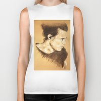 harry styles Biker Tanks featuring Harry Styles by Drawpassionn