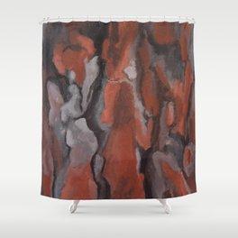 tree trunk Shower Curtain