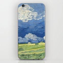 Vincent van Gogh - Wheatfield Under Thunderclouds iPhone Skin