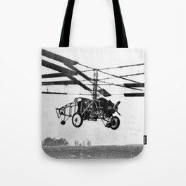 Helicopter Invention Tote Bag