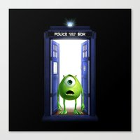 monster inc Canvas Prints featuring Tardis Monster inc by DavinciArt
