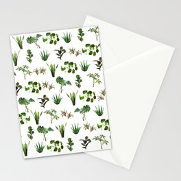 house plant medley Stationery Cards